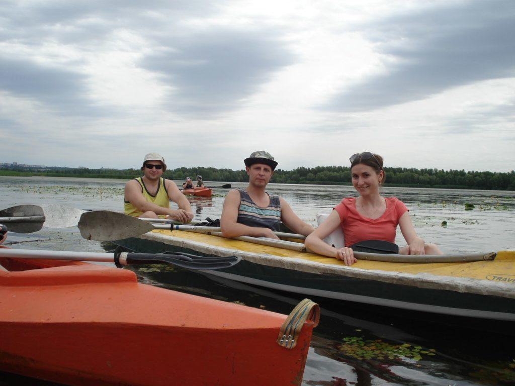 Каяк, река Днепр