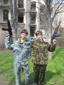 лазертаг два бойца