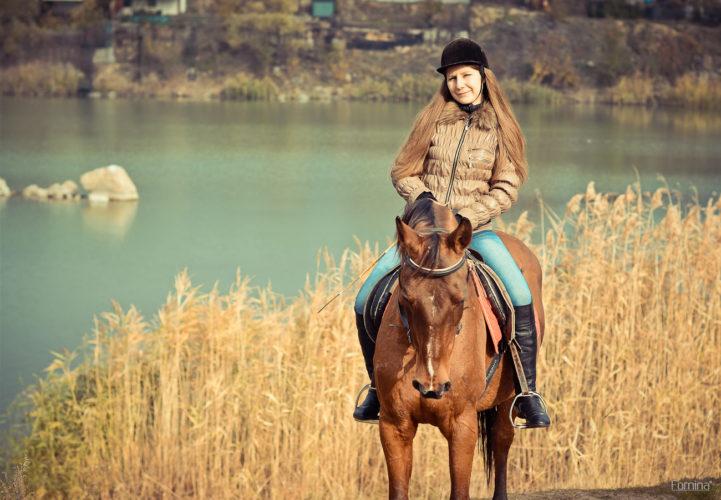 лошадь на маршруте
